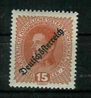 Österreich 1918: Mi.-Nr. 233:  Freimarke Mit Aufdruck,   ** - 1918-1945 1. Republik
