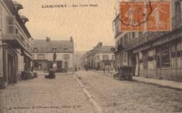 60 LIANCOURT - RUE VICTOR HUGO ( TAMPON VERSO MR DUMENIL REPRESENTANT MAISON LEBLONG ACCESSOIRES PHARMACIE ) - Liancourt
