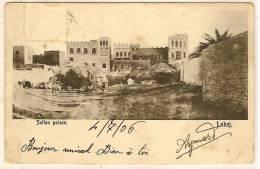 YEMEN ADEN LAHEJ Sultan Palace Hôtel De L'Europe Turkish Shop J. Benghiat - Jemen