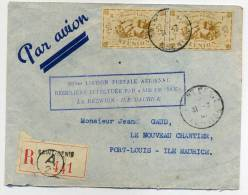 REUNION - DIVERS SUR LR DE ST. DENIS LE 31/3/1947, 100éme. LIAISON REUNION-MAURICE, AVEC C.S. - TB - Réunion (1852-1975)