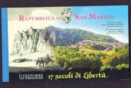 LOT  487 - SAINT MARIN CARNET 1702 ** - ANNIVERSAIRE - Cote 32 € - Carnets