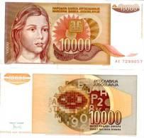 Yugoslavia 10000 Dinars. (1992) UNC Banknote. Crisp New - Yougoslavie