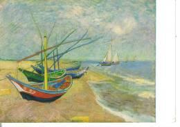 Cartoline Quadri-vincent Van Gogh-boats On The Beach-amsterdam - Pittura & Quadri