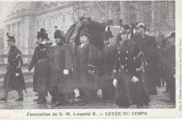 Funérailles De S.M. Léopold II - Levée Du Corps - Evénements