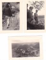 20996- 3 Photo Originales  8x5cm Belgique Franc-amoureux Campeur Randonnée Vers 1950 -randonnée