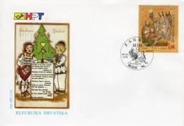 CROATIA 1994 Christmas FDC. Michel 304 - Croatia