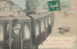 13 MARSEILLE J'ARRIVE A MARSEILLE ET VOUS ENVOIE LE BONJOUR TRAIN GARE - Marsella