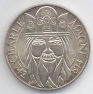 FRANCIA 100 FRANCS 1990 AG - CHARLE MAGNE - Commemorative