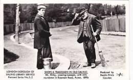 OLD EALING  -MR KIRBY ROADSWEEPER WITH MILKMAN.ACTON   PAMLIN - London Suburbs