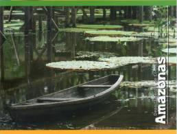 Lote PEP331, Colombia, Postal, Postcard, Amazonas, Amazon, Rio, River, Canoa - Colombia