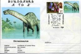 Roumanie, 2012, Enveloppe Speciale, Animaux Prehistoriques, Dicraeosaurus, Jurassic - Briefmarken