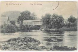 CPA SO. ROYALTON, VT - THE OLD BRIDGE - United States