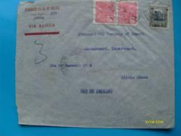 Air Mail 1931 VIA AEREA Brasile  Servico Aereo Sovr. 100 Rs + 2 Pz  200 Rs Rosso Da Bahia Per Rio Janeiro - Brazil