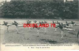 CPA Joinville Le Pont Ecole Militaire Gymnastique Escrime 8 Sport Boxe Boxeur Non Circulée Très Animée - Boxe