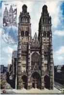 CARTE-MAXIMUM France N° Yvert 2370 (Cathédrale De TOURS) Obl Sp Ill 1er Jour (Ed Greff 99) - Maximum Cards