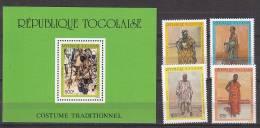 B0918 - TOGO Yv N°1242/45 + BF ** COSTUMES - Togo (1960-...)
