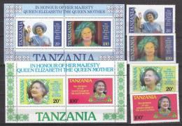 B0911 - TANZANIA Yv N°262A/D + BF ** 85° REINE MERE - Tanzania (1964-...)