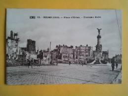 REIMS  Place D´erlen - Fontaine Subé - Reims