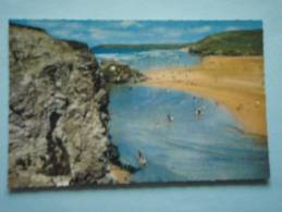 23255 PC: CORNWALL: Perranporth, Rock Formations And Beach. - Other