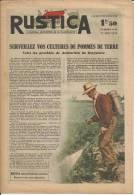 RUSTICA  17 Mai 1942 N 20...Surveillez Vos Cultures De Pommes De Terre. Les Procédés De Destruction Du Doryphore - Bücher, Zeitschriften, Comics