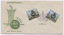IRAQ, Baghdad, Tree Day Envelope, 1965. - Irak