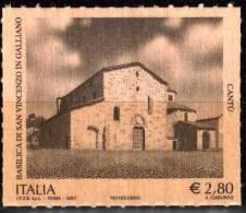 PIA - ITALIA - 2007 : Basilica Di San Vincenzo In Galliano - Il Francobollo Di LEGNO - (SAS  2981) - 6. 1946-.. República