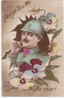 MILITARIA - 14-18 - PENSES-TU à MOI ? ME VOICI ! (Poilu) - Weltkrieg 1914-18