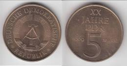 ALLEMAGNE EST - GERMANY RDA **** 5 MARK 1969 - 20th ANNIVERSARY D.D.R. **** EN ACHAT IMMEDIAT - [ 6] 1949-1990 : RDA - Rép. Démo. Allemande