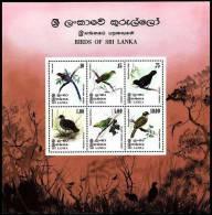 Sri Lanka Birds Of Sri Lanka MS SG#MS690 MI#Block 10 - Sri Lanka (Ceylan) (1948-...)