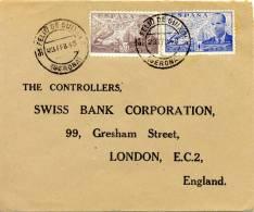 """1948 """" Carta De San Feliu De Guixols (Gerona) A Londres """" Sellos Juan De La Cierva. Cover, Lettre - Covers"""
