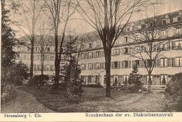 12 / 10 / 123  - STASBURG I. ELS.  KRANKENHAUS DER EV. DIAKONISSENANSTALT - Strasbourg