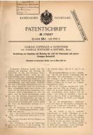 Original Patentschrift - C. Coppeaux In Zaventem , 1905 , Apparat Zur Regelung Und Messung Der Luft Bei Heizung !!! - Historische Dokumente