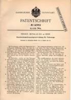 Original Patentschrift - Perrot , Duval & Co. In Genf , 1902 , Tacho , Tachometer Für Automobile !!! - Voitures