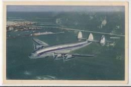 AIR FRANCE - Lockeed Constellation - ( Survol De La Rade  De Casablanca ) - 1946-....: Moderne