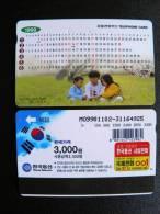 Phone Card From South Korea, Magnetic Autelca, 3,000 Calendar 1999 - Korea, South