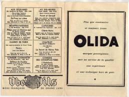 PUBLICITES BIERE OBER PILS, OLIDA, ILLUSTRATION SPECTACLE DE PARIS DU 6 AU 12 AVRIL 1960 - A VOIR - Publicités