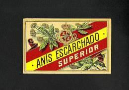 Etiquette De Liqueur: Anis Escarchado, Lithographie (11´5 X 8 Cms) (Ref.35799) - Labels