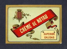 Etiquette De Liqueur: Creme De Noyau Lithographie (11´5 X 8 Cms) (Ref.64892) - Labels