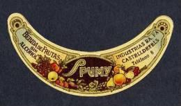 Etiquette De Boisson De Fruits SPUMY. Decoupee (10´5 X 5 Cms) (Ref.65507) - Labels