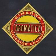 Etiquette De Liqueur: Etiquette Ginebra Aromatica (en Diagonal 12 Cms) (Ref.47677) - Labels