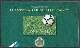 1998 Mondiali Calcio Francia 98, Libretto Francobolli San Marino Nuovo (**) - 1998 – Francia