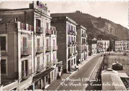 POZZUOLI ( NAPOLI ) VIA NAPOLI CON TERME DELLA SALUTE - 1955- - Napoli (Naples)