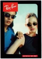 CPM Carte Postale Publicitaire DEFINITELY RAY-BAN Pub Lunettes Sunglasses Models Wayfarer Aviator Bausch & Lomb Postcard - Werbepostkarten
