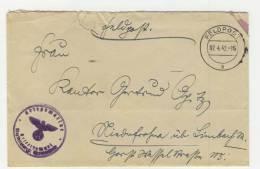 Deutsches Reich Feldpost 1942