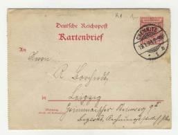 Deutsches Reich Ganzsache K 1
