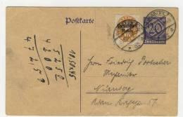 Deutsches Reich Ganzsache  DP 2 gebraucht