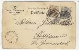 Deutsches Reich Michel No. 83 , 84 I gestempelt used auf Karte