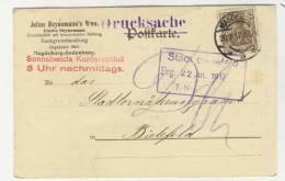 Deutsches Reich Michel No. 84 II gestempelt used auf Karte