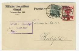 Deutsches Reich Michel No. 85 II , 107 gestempelt used auf Karte