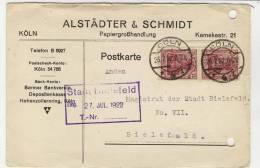 Deutsches Reich Michel No. 148 II gestempelt used auf Karte